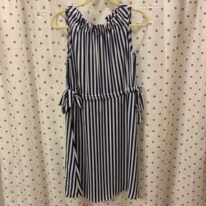 Blue & white vertical striped juicy couture dress
